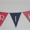 Custom made Boys/Girls bunting  quality 100% cotton fabrics. 11 Red White & Blue