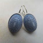 Denim Blue Mosaic Earrings