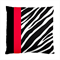 Red & Black Stripe Black & White Zebra Animal Print Satin Cushion Cover