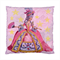 Queen Marie Antoinette with Roses Pink Satin Cushion Cover