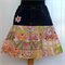 Women's Skirt Upcycled Vintage Denim and Patchwork Size 14
