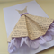 Handmade Birthday Mother's Day Valentine's Day Dress Newspaper Card