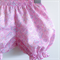 Size 6-12m Liberty Baby Bloomers ~ Girls Pretty Pink Summer Shorts