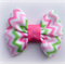 Pastel Chevron Bow Hair Clip