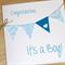 It's a Boy - new baby boy congratulations card - handmade