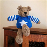 James - Hand Knitted Teddy Bear Toy