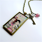 Your heart will never be alone - charm adorned resin necklace
