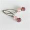 Purple & Pink Earrings - antique bronze