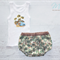 Boys nappy cover and singlet set retro surf palm trees set