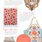 Metro Retro POT POURRI Basket Vintage Tea Towel Apron . Birthday Christmas
