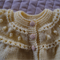 SIZE 0-6 months - Hand knitted baby cardigan/ jacket in yellow by CuddleCorner