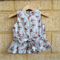 Duck egg floral spray peplum top sz 2-6