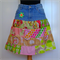 Women's Skirt Upcycled Vintage Denim and Patchwork Size 12
