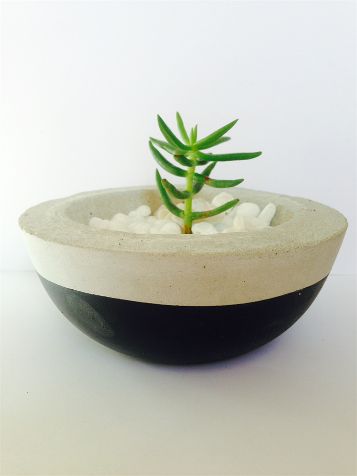 Concrete cement plant pot handmade homewares decor custom for Homewares decorative items