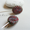 Argentium Sterling Silver range - opaque red rustic etched Czech glass earrings
