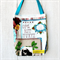 Large - Library Tote Bags in Yester Year Print
