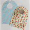 2 Cotton Baby Bibs: UNISEX BOY GIRL - Polka Dots and Gnomes