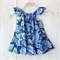 Blue and White Floral Dress - Sizes 3