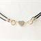 Little silver heart choker, leather choker necklace