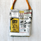 Super Strong Library Tote Bags in Vintage News Print