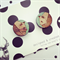Panda wooden earrings