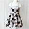 Size 5 - Black Patchwork Apron Dress with Sash and Bow
