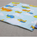 wash or burp cloth - pale blue planes /organic cotton bamboo / baby toddler boy