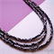 Black silver white and red wooden beads and black seed bead necklace