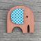 Wooden Brooch - Elephant.