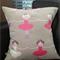 Bella Ballerina, throw pillow cushion cover, pink girls room, nursery