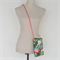 Across body 'hippy' bag. Retro pink flamingos pouch Fit Ereaders or large phone