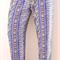 Size 8 Women's Lounge Pants Blue Aztec