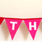 Happy Birthday Red & Pink Bunting Banner Flags.