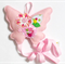 Pastel Pink Butterfly - felt hairclip headband hairbow organiser, bow holder