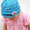 Hand Knit Girls Hat in Luxury Hand Dyed Merino Yarn Blue Heaven Beanie