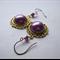 Lilac faux pearl earrings