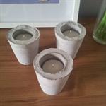 Set of 3 Cement Tealight Holders