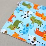 wash or burp cloth - cows / organic cotton bamboo / baby toddler boy girl