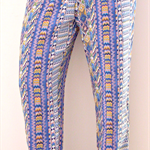 Size 6 -16 Women's Lounge Pants Blue Aztec