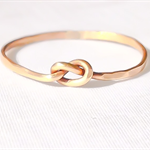 Gold love knot ring, thin ring, stacking ring