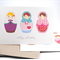 Happy Birthday Card Pack - 3 Babushka Dolls - Set of 3 Cards - Female - HC3_010