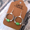 boho style hoop earrings in  green