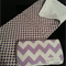 Purple chevron wipes case and change mat