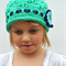 Hand Knit Girls Hat in Luxury Hand Dyed Merino Yarn Spearmint Green Beanie