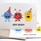 Birthday Card Pack - Party Monsters - Set of 3 Cards - Birthday Boy - HC3_002