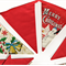 Christmas Red Traditional Style Flag Bunting - Xmas Snowman Banner, Decoration