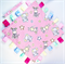 *FREE POST* PINK JUNGLE ANIMALS ~ Baby Security Blanket Blankie Taggie Toy