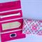 Deluxe Jewellery Roll: Pink & Aqua Diamonds