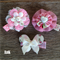 Abbey Clips Trio - Shabby Pink