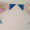 Bunting floral wall hanging nursery birthday party wedding baby shower gift